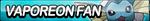 Vaporeon Fan Button by ButtonsMaker