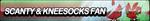Scanty and Kneesocks Fan Button by ButtonsMaker