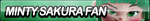 Minty Sakura Fan Button by ButtonsMaker