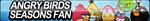 Angry Birds Seasons Fan Button by ButtonsMaker