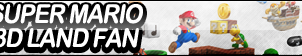 Super Mario 3D Land Fan Button by ButtonsMaker
