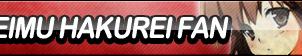 Reimu Hakurei Fan Button by ButtonsMaker