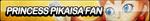 Princess Pikaisa Fan Button by ButtonsMaker