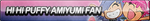 Hi Hi Puffy AmiYumi Fan Button by ButtonsMaker