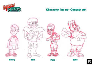 MISSION W.C. Line Up Characters by JPGArt