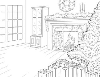 Chrismas Background Commission 2 by JPGArt