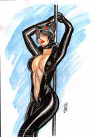 Cat Woman~~ by josileudo