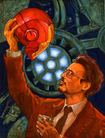 Tony Stark does it in a Cave by Johnny-Turbo