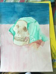 Still Life of a Skull by artbyaimee
