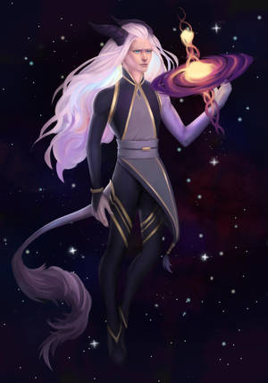 Space Dragon Bishie Adoptable [Auction/OPEN] by LavraInANutshell