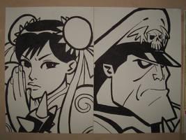 Chun li and M.Bison Copy by barbarellamoon