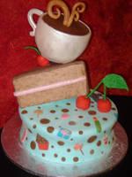 Sweet Fondant Cake by Hallkatla