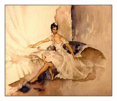 White dress. Studying by Skasia