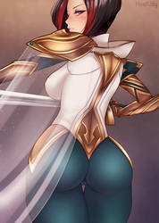 League of Legends Fiora NOT LEWD :o by HinaKitty