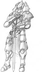 Paladin Tormenta sketch by JoseMiguelBatistajr