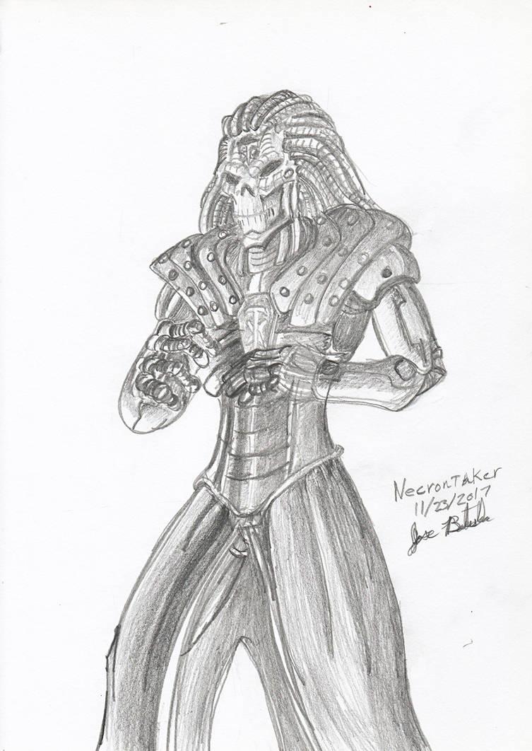 Necrontaker - Pencils by JoseMiguelBatistajr
