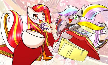 Juni Hitoe Poniko and Roku-chan! 1 by PhoenixPeregrine