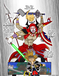 WIP: KH: Sora Meets Gilgamesh by Angel-Wing101
