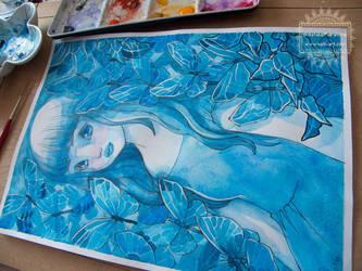 In the Garden of Blue Butterflies / WIP by nati