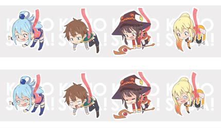 Konosuba Stickers! by Yurax-Mae