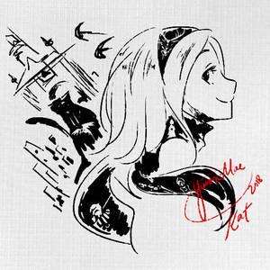 Kat Sketch by Yurax-Mae