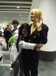 Sanji Fangirl Hug Attack by SailorUsagiChan