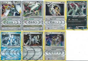 Arceus cards by SailorUsagiChan