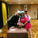Bulma meets Eric Vale (Trunks) by SailorUsagiChan