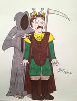 Bruce Baratheon and Death by timburtongot
