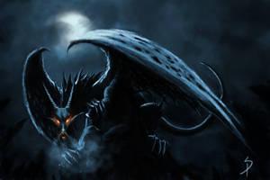 Fearsome dragon by SigbjornPedersen