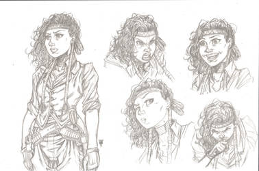 Crow Jane sketches by RevolverComics