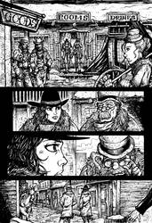 Crow Jane: Enter the Hawk no.1 pg21 lines by RevolverComics
