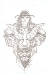 Crow Jane: Enter the Hawk no.2 cover pencils by RevolverComics