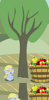 Derpy Bucks Her First Tree by Beavernator