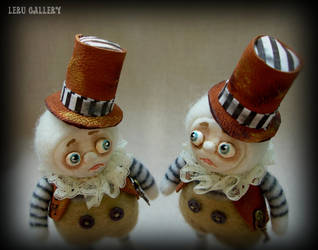 Tweedledum and Tweedledee. Alice in Wonderland. by LeRuGallery