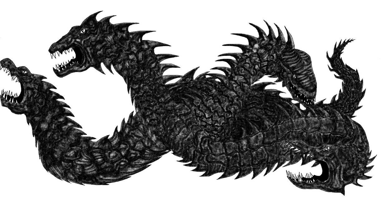 MS Paint Art Hydra by Finsterdrache
