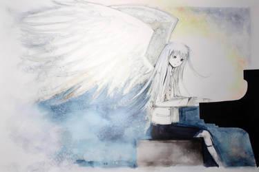 Angel Beats! - Kanade | Marker art [By Frederica] by Yersinia88