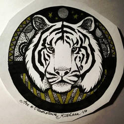 Tiger tattoo (finished) by Koshken