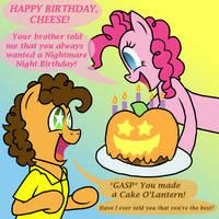 Cheesy Birthday Boy by CrazyNutBob