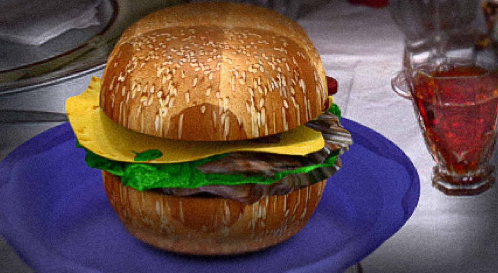 Blender cycles 3D model burger render by Gman20999