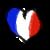 [Flags Hearts] France Heart