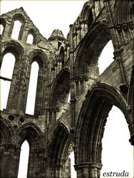 Ruins Of Whitby Abbey by Estruda