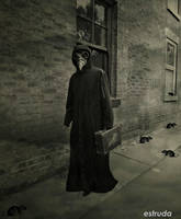 The Plague Doctor On His Way To Another Sufferer by Estruda
