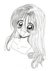 +.Sketch- Maron Kusakabe.+ by toTalYamiFr3