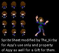 Human Azalea Sprite Sheet by kirby144