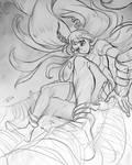 Nejire Sketch by RamzyKamen