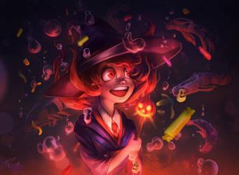 Little Akko - Halloween by RamzyKamen