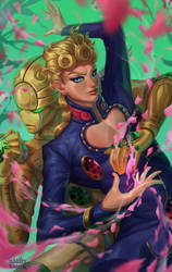 Giorno and Gold Experience (+process video) by RamzyKamen