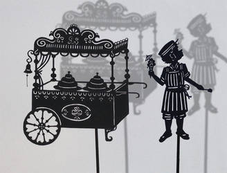 Icecream man / shadow puppet by PaperTales