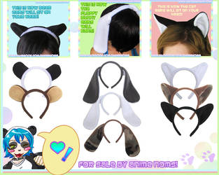 More Headbands in Cat, Bunny and Bear by AnimeNomNoms